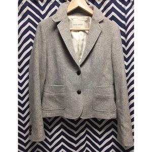 Grey wool blazer from Banana Republic.